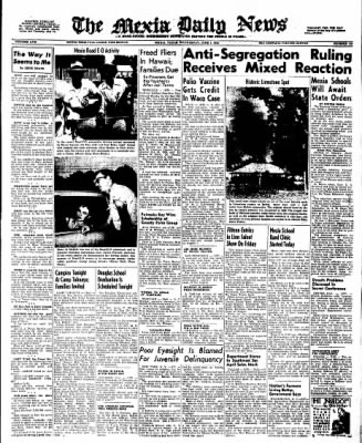 The Mexia Daily News from Mexia, Texas on June 1, 1955 · Page 1