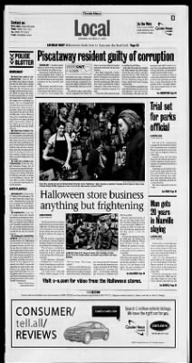 the courier news from bridgewater new jersey on october 27 2007 page - Halloween Store New Jersey