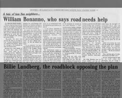 News article about William Bonnano, Brother of Joseph Bonnano and also a former employee at Lionel.