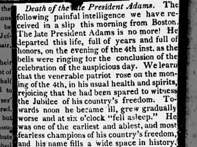 Death of Adams