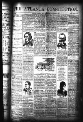 The Atlanta Constitution from Atlanta, Georgia on December 6, 1889 · Page 1