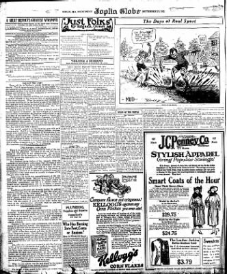 Joplin Globe from Joplin, Missouri on September 27, 1922 · Page 12