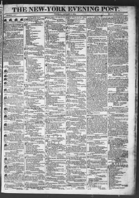 The Evening Post from New York, New York on January 6, 1818 · Page 1