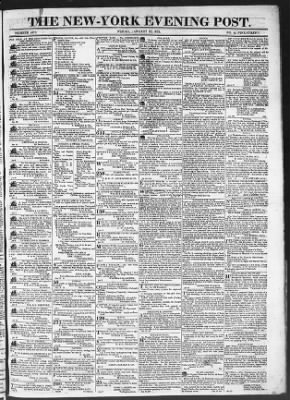 The Evening Post from New York, New York on January 23, 1818 · Page 1