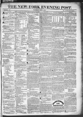 The Evening Post from New York, New York on May 13, 1818 · Page 1