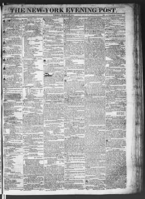 The Evening Post from New York, New York on August 18, 1818 · Page 1