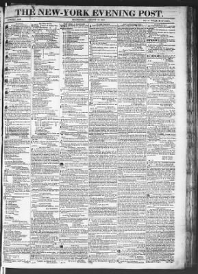 The Evening Post from New York, New York on August 19, 1818 · Page 1