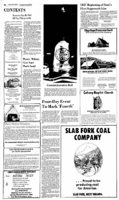 Sunday Gazette-Mail from Charleston, West Virginia on June 20, 1976 · Page 81