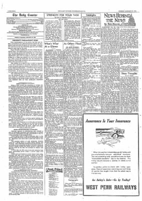 The Daily Courier from Connellsville, Pennsylvania on January 23, 1939 · Page 4