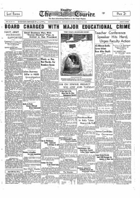 The Daily Courier from Connellsville, Pennsylvania on January 29, 1938 · Page 1