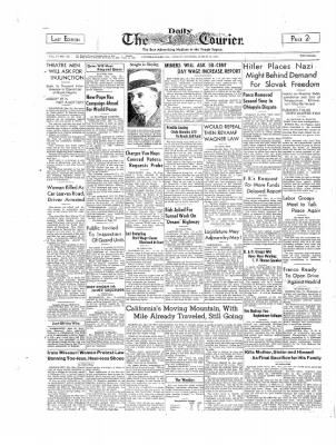The Daily Courier from Connellsville, Pennsylvania on March 13, 1939 · Page 1