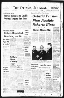 The Ottawa Journal from Ottawa,  on April 1, 1964 · Page 1