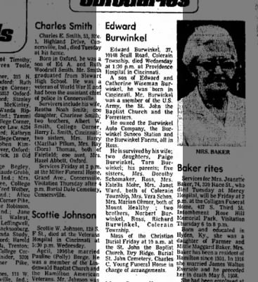Burwinkel, Edward Obit 29jul1976