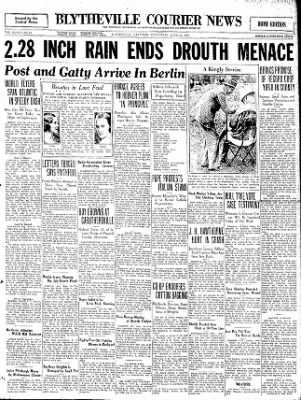 The Courier News from Blytheville, Arkansas on June 24, 1931 · Page 1