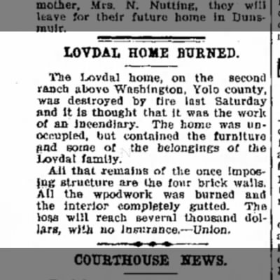 LOVDAL HOME, 23 APR 1907, WOODLAND, P4, C1
