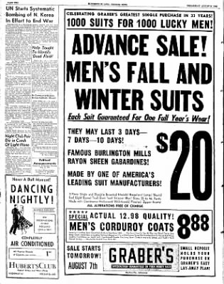 The Courier News from Blytheville, Arkansas on August 6, 1952 · Page 2