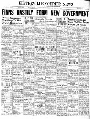The Courier News from Blytheville, Arkansas on December 1, 1939 · Page 1