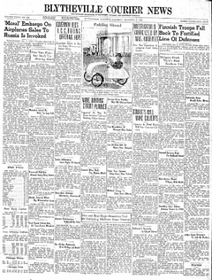 The Courier News from Blytheville, Arkansas on December 2, 1939 · Page 1