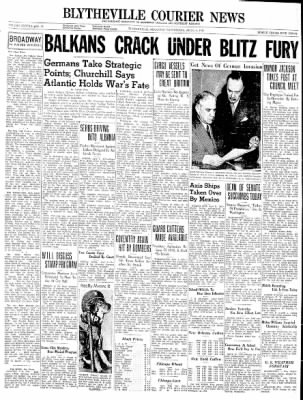 The Courier News from Blytheville, Arkansas on April 9, 1941 · Page 1