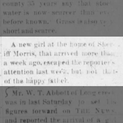 1893 Morris daughter