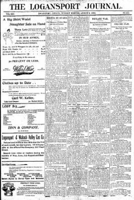 Logansport Pharos-Tribune from Logansport, Indiana on August 4, 1896 · Page 1