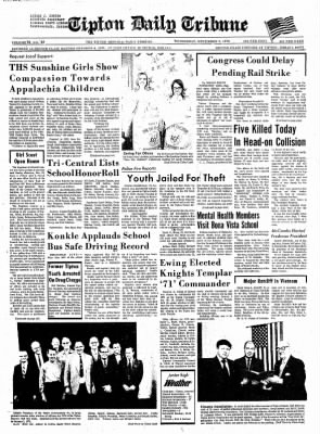 The Tipton Daily Tribune from Tipton, Indiana on December 9, 1970 · Page 1