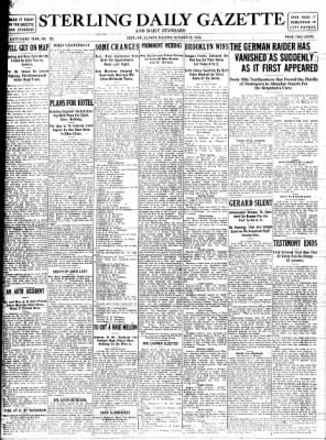 Sterling Standard from Sterling, Illinois on October 10, 1916 · Page 1