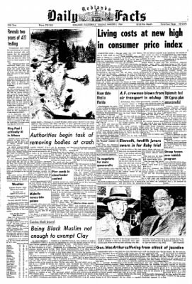 Redlands Daily Facts from Redlands, California on March 3, 1964 · Page 1