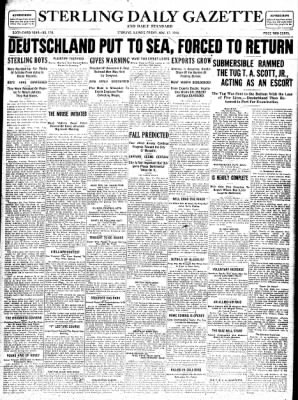 Sterling Standard from Sterling, Illinois on November 17, 1916 · Page 1
