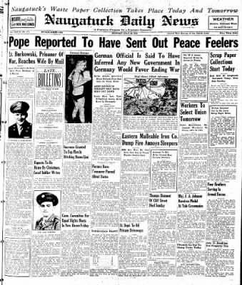Naugatuck Daily News from Naugatuck, Connecticut on July 24, 1944 · Page 1