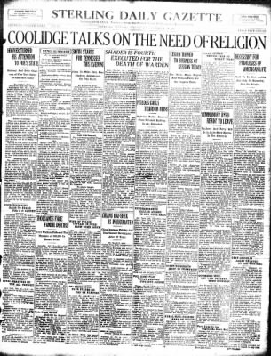 Sterling Standard from Sterling, Illinois on October 10, 1928 · Page 1