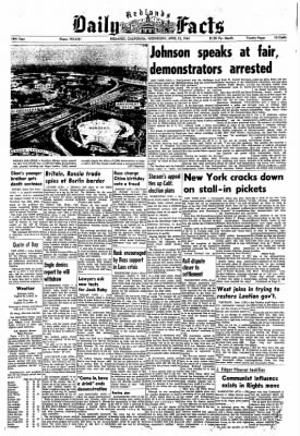 Redlands Daily Facts from Redlands, California on April 22, 1964 · Page 1