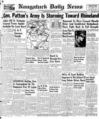 Naugatuck Daily News from Naugatuck, Connecticut on September 6, 1944 · Page 1