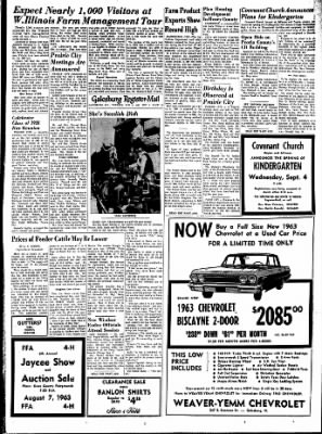 Galesburg Register-Mail from Galesburg, Illinois on August 6, 1963 · Page 13
