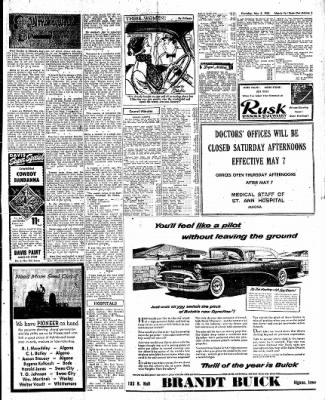 The Algona Upper Des Moines from Algona, Iowa on May 5, 1955 · Page 21