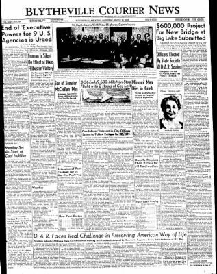 The Courier News from Blytheville, Arkansas on March 12, 1949 · Page 1