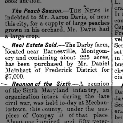 The Darby Farm Sold