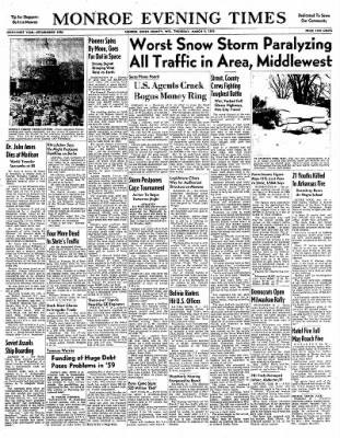 Monroe Evening Times from Monroe, Wisconsin on March 5, 1959 · Page 1