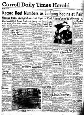 Carrol Daily Times Herald from Carroll, Iowa on July 30, 1957 · Page 1