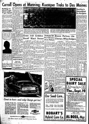 Carrol Daily Times Herald from Carroll, Iowa on September 13, 1957 · Page 2