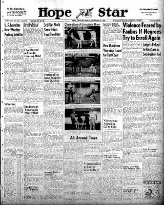 Hope Star from Hope, Arkansas on September 26, 1958 · Page 1