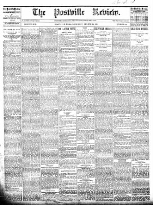 The Postville Review from Postville, Iowa on August 15, 1891 · Page 1