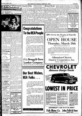 Postville Herald from Postville, Iowa on March 17, 1948 · Page 7