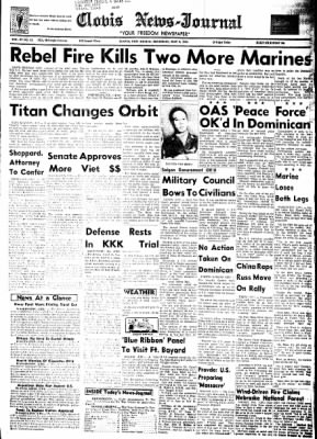 Clovis News-Journal from Clovis, New Mexico on May 6, 1965 · Page 1