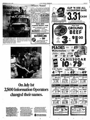 Alton Evening Telegraph from Alton, Illinois on July 3, 1968 · Page 7