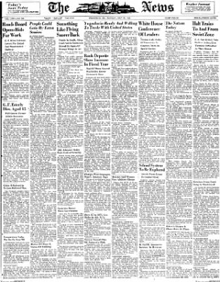 The News from Frederick, Maryland on July 26, 1948 · Page 1