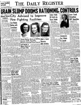 The Daily Register from Harrisburg, Illinois on February 12, 1948 · Page 1