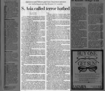 4-30-2000- State Department Report on Terrorism- vastly different than before