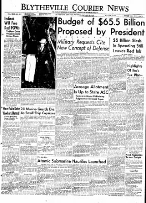 The Courier News from Blytheville, Arkansas on January 21, 1954 · Page 1