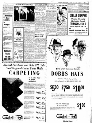 Northwest Arkansas Times from Fayetteville, Arkansas on February 5, 1952 · Page 3
